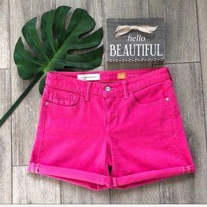 Anthropologie Pilcro Stet Rollup Denim Shorts Pink